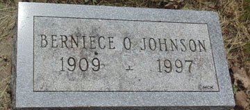 JOHNSON, BERNIECE O. - Minnehaha County, South Dakota | BERNIECE O. JOHNSON - South Dakota Gravestone Photos