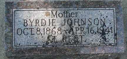 JOHNSON, BYRDIE - Minnehaha County, South Dakota | BYRDIE JOHNSON - South Dakota Gravestone Photos