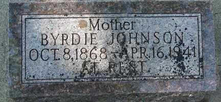 JOHNSON, BYRDIE - Minnehaha County, South Dakota | BYRDIE JOHNSON - South Dakota Gravestone Photos