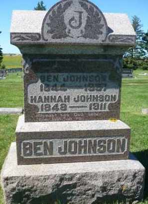 JOHNSON, HANNAH - Minnehaha County, South Dakota   HANNAH JOHNSON - South Dakota Gravestone Photos