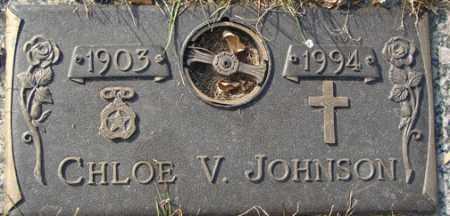 JOHNSON, CHLOE V. - Minnehaha County, South Dakota | CHLOE V. JOHNSON - South Dakota Gravestone Photos