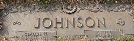 JOHNSON, CLAUDE HENRY - Minnehaha County, South Dakota | CLAUDE HENRY JOHNSON - South Dakota Gravestone Photos