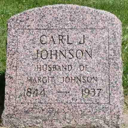 JOHNSON, CARL J. - Minnehaha County, South Dakota | CARL J. JOHNSON - South Dakota Gravestone Photos