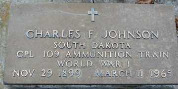 JOHNSON, CHARLES  F. - Minnehaha County, South Dakota   CHARLES  F. JOHNSON - South Dakota Gravestone Photos