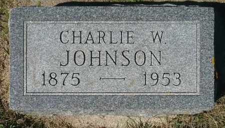 JOHNSON, CHARLIE W. - Minnehaha County, South Dakota | CHARLIE W. JOHNSON - South Dakota Gravestone Photos