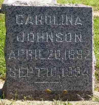 JOHNSON, CAROLINA - Minnehaha County, South Dakota | CAROLINA JOHNSON - South Dakota Gravestone Photos