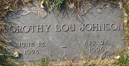 JOHNSON, DOROTHY LOU - Minnehaha County, South Dakota | DOROTHY LOU JOHNSON - South Dakota Gravestone Photos