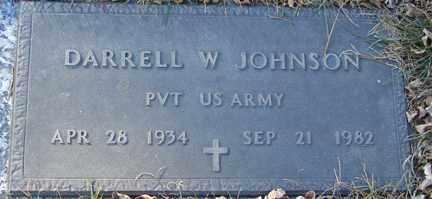 JOHNSON, DARRELL W. - Minnehaha County, South Dakota   DARRELL W. JOHNSON - South Dakota Gravestone Photos