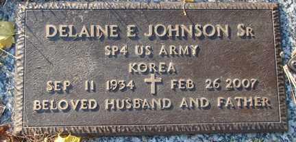 JOHNSON, DELANINE EDWARD  SR. - Minnehaha County, South Dakota | DELANINE EDWARD  SR. JOHNSON - South Dakota Gravestone Photos