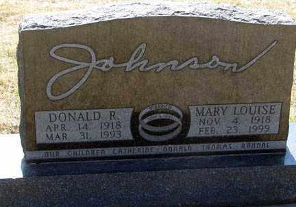 JOHNSON, MARY LOUISE - Minnehaha County, South Dakota | MARY LOUISE JOHNSON - South Dakota Gravestone Photos