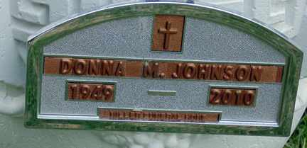 JOHNSON, DONNA M. - Minnehaha County, South Dakota | DONNA M. JOHNSON - South Dakota Gravestone Photos