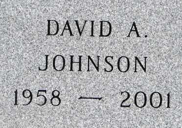 JOHNSON, DAVID A. - Minnehaha County, South Dakota | DAVID A. JOHNSON - South Dakota Gravestone Photos