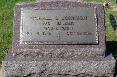 JOHNSON, DONALD L. (WWII) - Minnehaha County, South Dakota   DONALD L. (WWII) JOHNSON - South Dakota Gravestone Photos