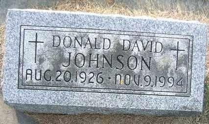 JOHNSON, DONALD DAVID - Minnehaha County, South Dakota | DONALD DAVID JOHNSON - South Dakota Gravestone Photos