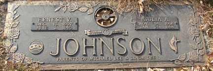 JOHNSON, ERNEST V. - Minnehaha County, South Dakota | ERNEST V. JOHNSON - South Dakota Gravestone Photos