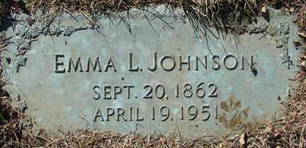 JOHNSON, EMMA L. - Minnehaha County, South Dakota   EMMA L. JOHNSON - South Dakota Gravestone Photos