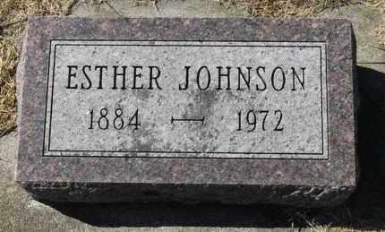JOHNSON, ESTHER - Minnehaha County, South Dakota   ESTHER JOHNSON - South Dakota Gravestone Photos