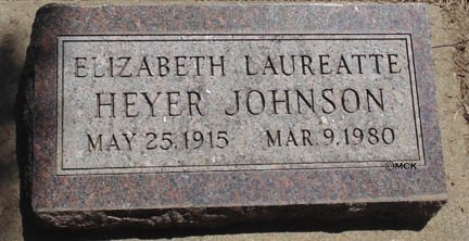 JOHNSON, ELIZABETH LAUREATTE - Minnehaha County, South Dakota | ELIZABETH LAUREATTE JOHNSON - South Dakota Gravestone Photos