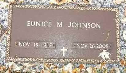 JOHNSON, EUNICE M. - Minnehaha County, South Dakota | EUNICE M. JOHNSON - South Dakota Gravestone Photos