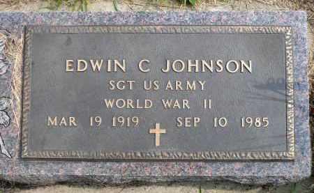 JOHNSON, EDWIN C. - Minnehaha County, South Dakota   EDWIN C. JOHNSON - South Dakota Gravestone Photos