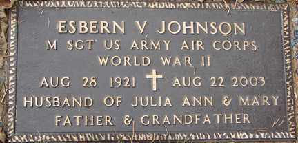 JOHNSON, ESBERN V. (WWII) - Minnehaha County, South Dakota | ESBERN V. (WWII) JOHNSON - South Dakota Gravestone Photos