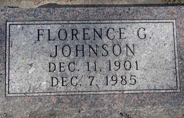 JOHNSON, FLORENCE G. - Minnehaha County, South Dakota | FLORENCE G. JOHNSON - South Dakota Gravestone Photos
