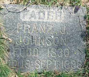 JOHNSON, FRANZ J. - Minnehaha County, South Dakota | FRANZ J. JOHNSON - South Dakota Gravestone Photos