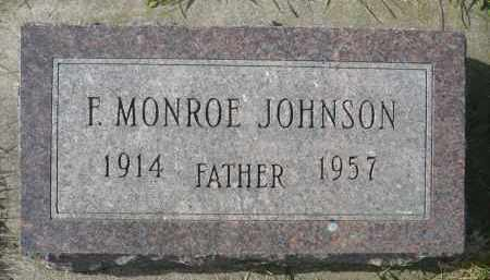JOHNSON, F. MONROE - Minnehaha County, South Dakota | F. MONROE JOHNSON - South Dakota Gravestone Photos