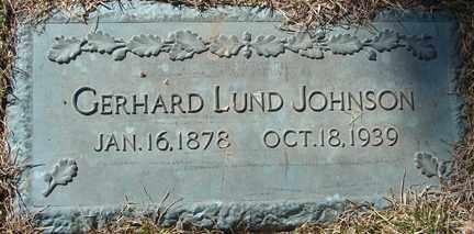 JOHNSON, GERHARD LUND - Minnehaha County, South Dakota | GERHARD LUND JOHNSON - South Dakota Gravestone Photos