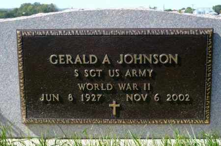 JOHNSON, GERALD A. - Minnehaha County, South Dakota | GERALD A. JOHNSON - South Dakota Gravestone Photos