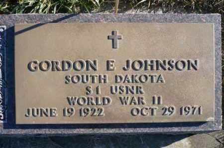 JOHNSON, GORDON E. - Minnehaha County, South Dakota | GORDON E. JOHNSON - South Dakota Gravestone Photos