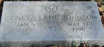 JOHNSON, GENEVA LANE - Minnehaha County, South Dakota | GENEVA LANE JOHNSON - South Dakota Gravestone Photos