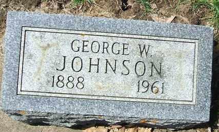 JOHNSON, GEORGE W. - Minnehaha County, South Dakota   GEORGE W. JOHNSON - South Dakota Gravestone Photos