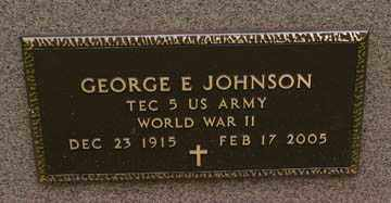 JOHNSON, GEORGE E. (WWII) - Minnehaha County, South Dakota   GEORGE E. (WWII) JOHNSON - South Dakota Gravestone Photos