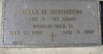 JOHNSON, GALE H. (WWII) - Minnehaha County, South Dakota | GALE H. (WWII) JOHNSON - South Dakota Gravestone Photos