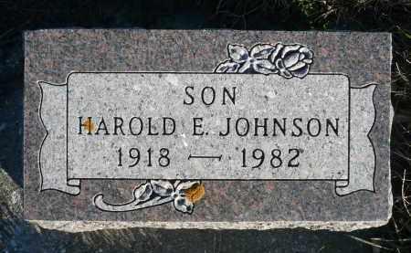 JOHNSON, HAROLD E. - Minnehaha County, South Dakota | HAROLD E. JOHNSON - South Dakota Gravestone Photos
