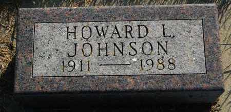 JOHNSON, HOWARD L. - Minnehaha County, South Dakota | HOWARD L. JOHNSON - South Dakota Gravestone Photos