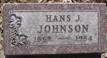 JOHNSON, HANS J. - Minnehaha County, South Dakota   HANS J. JOHNSON - South Dakota Gravestone Photos