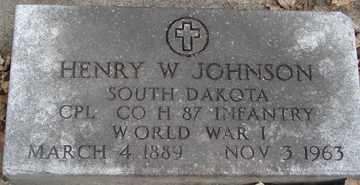 JOHNSON, HENRY W. (WWI) - Minnehaha County, South Dakota | HENRY W. (WWI) JOHNSON - South Dakota Gravestone Photos