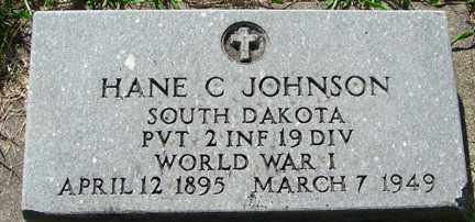 JOHNSON, HANE C. (WWI) - Minnehaha County, South Dakota | HANE C. (WWI) JOHNSON - South Dakota Gravestone Photos