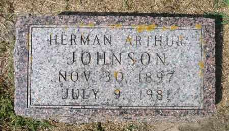JOHNSON, HERMAN ARTHUR - Minnehaha County, South Dakota | HERMAN ARTHUR JOHNSON - South Dakota Gravestone Photos