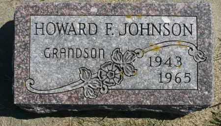 JOHNSON, HOWARD F. - Minnehaha County, South Dakota   HOWARD F. JOHNSON - South Dakota Gravestone Photos