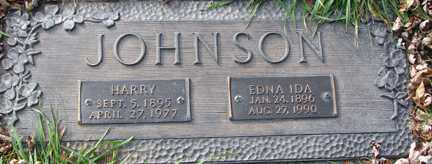 JOHNSON, EDNA IDA - Minnehaha County, South Dakota | EDNA IDA JOHNSON - South Dakota Gravestone Photos