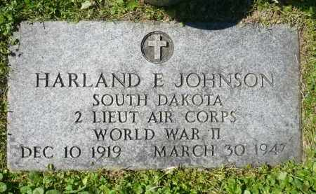 JOHNSON, HARLAND E. (WWII) - Minnehaha County, South Dakota | HARLAND E. (WWII) JOHNSON - South Dakota Gravestone Photos