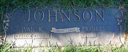 JOHNSON, FRANCES V. - Minnehaha County, South Dakota | FRANCES V. JOHNSON - South Dakota Gravestone Photos