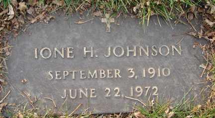JOHNSON, IONE H. - Minnehaha County, South Dakota   IONE H. JOHNSON - South Dakota Gravestone Photos