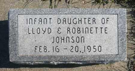 JOHNSON, INFANT DAUGHTER - Minnehaha County, South Dakota   INFANT DAUGHTER JOHNSON - South Dakota Gravestone Photos