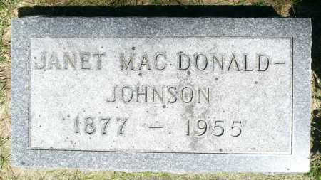 JOHNSON, JANET GRANT - Minnehaha County, South Dakota | JANET GRANT JOHNSON - South Dakota Gravestone Photos