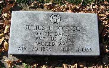 JOHNSON, JULIUS T. - Minnehaha County, South Dakota   JULIUS T. JOHNSON - South Dakota Gravestone Photos