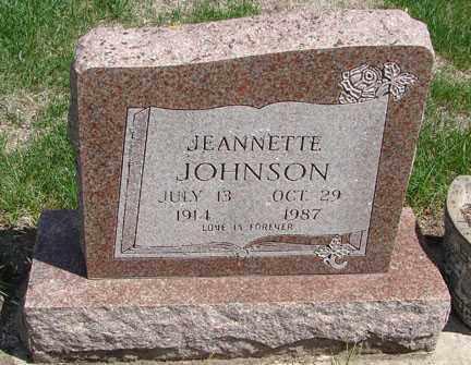 JOHNSON, JEANNETTE - Minnehaha County, South Dakota | JEANNETTE JOHNSON - South Dakota Gravestone Photos